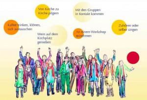 Musik im Kreis, Illustration von Felice Meer